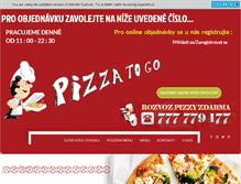 Tablet Preview of pizzatogo.cz